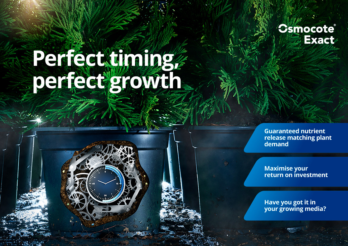 Ensure perfect timing of nutrient  release with Osmocote Exact.